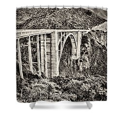 Highway 1 Shower Curtain by Heather Applegate