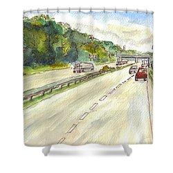 Highway 95 Shower Curtain
