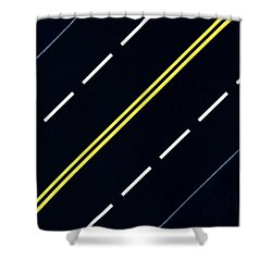 Shower Curtain featuring the painting Highway by Thomas Gronowski