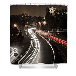 Shower Curtain featuring the photograph Highway's Lights by Stwayne Keubrick