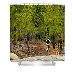 Hike On 2 Shower Curtain by Brent Dolliver