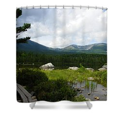 Hiker's Reward Shower Curtain