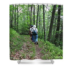 Hiking Group Shower Curtain by Melinda Fawver