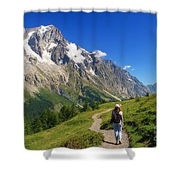 Shower Curtain featuring the photograph hiking in Ferret Valley by Antonio Scarpi