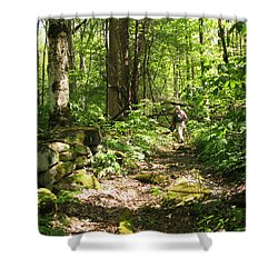 Hiking Off Trail Shower Curtain by Melinda Fawver