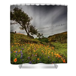Hiking On Table Mountain Shower Curtain