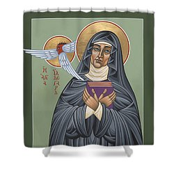 Shower Curtain featuring the painting St. Hildegard Of Bingen 171 by William Hart McNichols