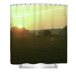 Shower Curtain featuring the photograph Hill Country Sunrise by John Glass