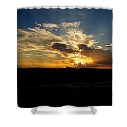 Hill Country Sunset Shower Curtain by Dave Files