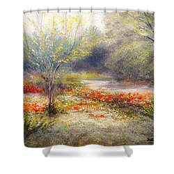 Hill Country Wildflowers Shower Curtain