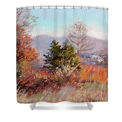 Hill Top View- In Autumn Shower Curtain