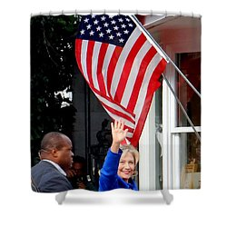 Hillary Clinton Shower Curtain by Ed Weidman