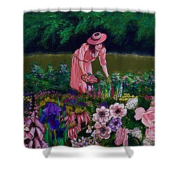 Hillary's Garden Shower Curtain by Linda Simon