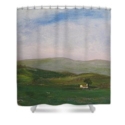 Hills Of Ireland Shower Curtain