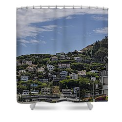 Hills Of Salsalito Shower Curtain