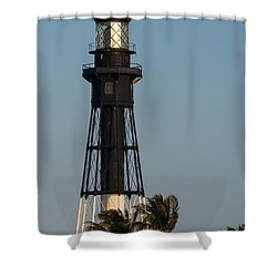 Hillsboro Inlet Lighthouse In The Evening Shower Curtain