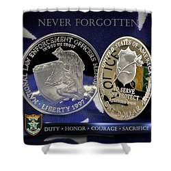Hillsborough County Sheriff Memorial Shower Curtain by Gary Yost