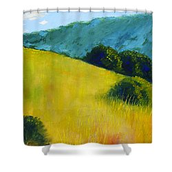 Hillside Prairie Shower Curtain by Nancy Merkle
