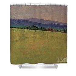 Hilltop Farm Shower Curtain by Gail Kent
