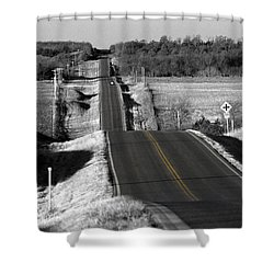 Shower Curtain featuring the photograph Hilly Ride by Brian Duram