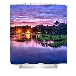Hilton Head Evening Marsh Shower Curtain