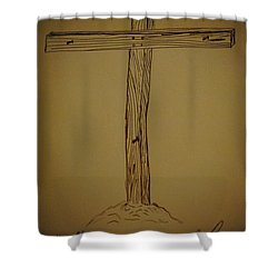 Him Alone Shower Curtain by Eric Liller