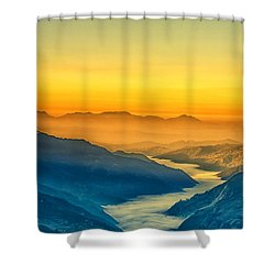 Himalaya In The Morning Light Shower Curtain by Ulrich Schade