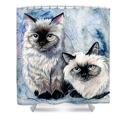 Himalayan Duo Shower Curtain by Sherry Shipley