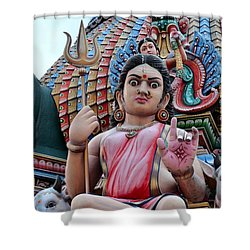 Hindu Goddess At Colorful Temple Shower Curtain by Imran Ahmed