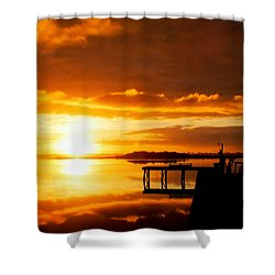Hint Of Heaven Shower Curtain by Karen Wiles