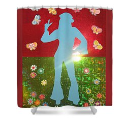 Hippie Girl Shower Curtain