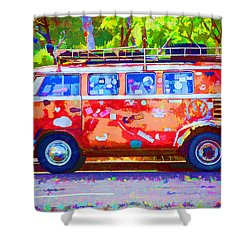 Shower Curtain featuring the photograph Hippie Van by Jaki Miller