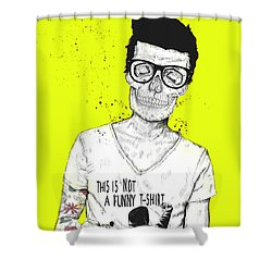 Hipsters Not Dead Shower Curtain by Balazs Solti