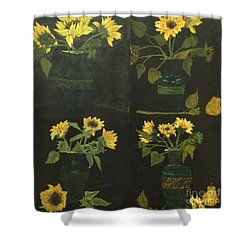 Shower Curtain featuring the painting Hirasol by Vanessa Palomino
