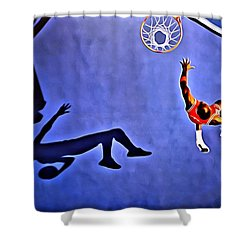 His Airness Michael Jordan Shower Curtain