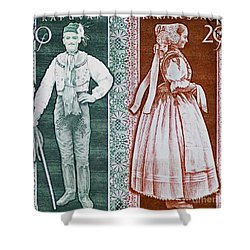 His And Hers Traditional Costumes Shower Curtain by Andy Prendy