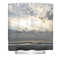 His Glory Shines Shower Curtain