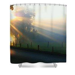 His Light II Shower Curtain by Douglas Stucky