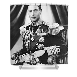 His Majesty King George Vi Shower Curtain by Underwood Archives