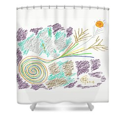 His Mastery's Voice Shower Curtain by Mark David Gerson