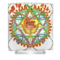 His Ministers A Flamming Fire Shower Curtain by Hidden  Mountain