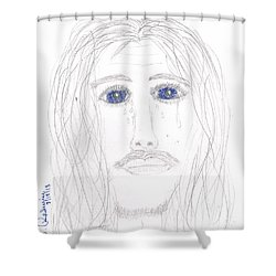 His Tears Shower Curtain by Shannon Redwine