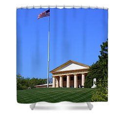 Shower Curtain featuring the photograph Historic Arlington House by Patti Whitten