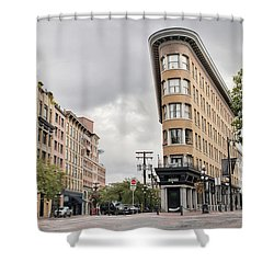 Historic Buildings In Gastown Vancouver Bc Shower Curtain by David Gn