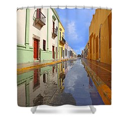 Shower Curtain featuring the photograph Historic Campeche Mexico  by Susan Rovira
