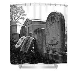 Historic Cemetery Shower Curtain by Jennifer Ancker