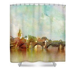 Historic Centre Of Prague  Shower Curtain by Catf