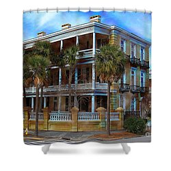 Shower Curtain featuring the photograph Historic Charleston Mansion by Kathy Baccari
