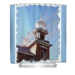 Historic Church Steeples Shower Curtain