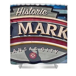 Historic City Market Sign  Shower Curtain